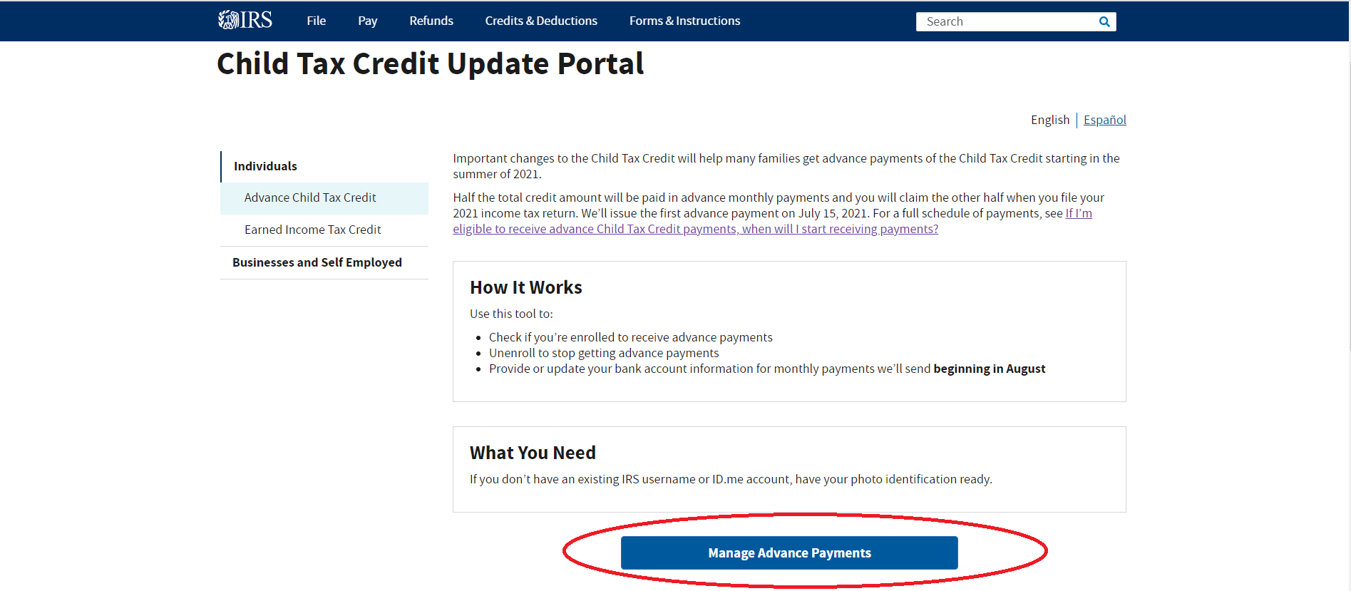 How To Use The Irs Child Tax Credit Update Portal Ctc Up Get It Back
