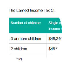 How much are the EITC and CTC worth in 2018?