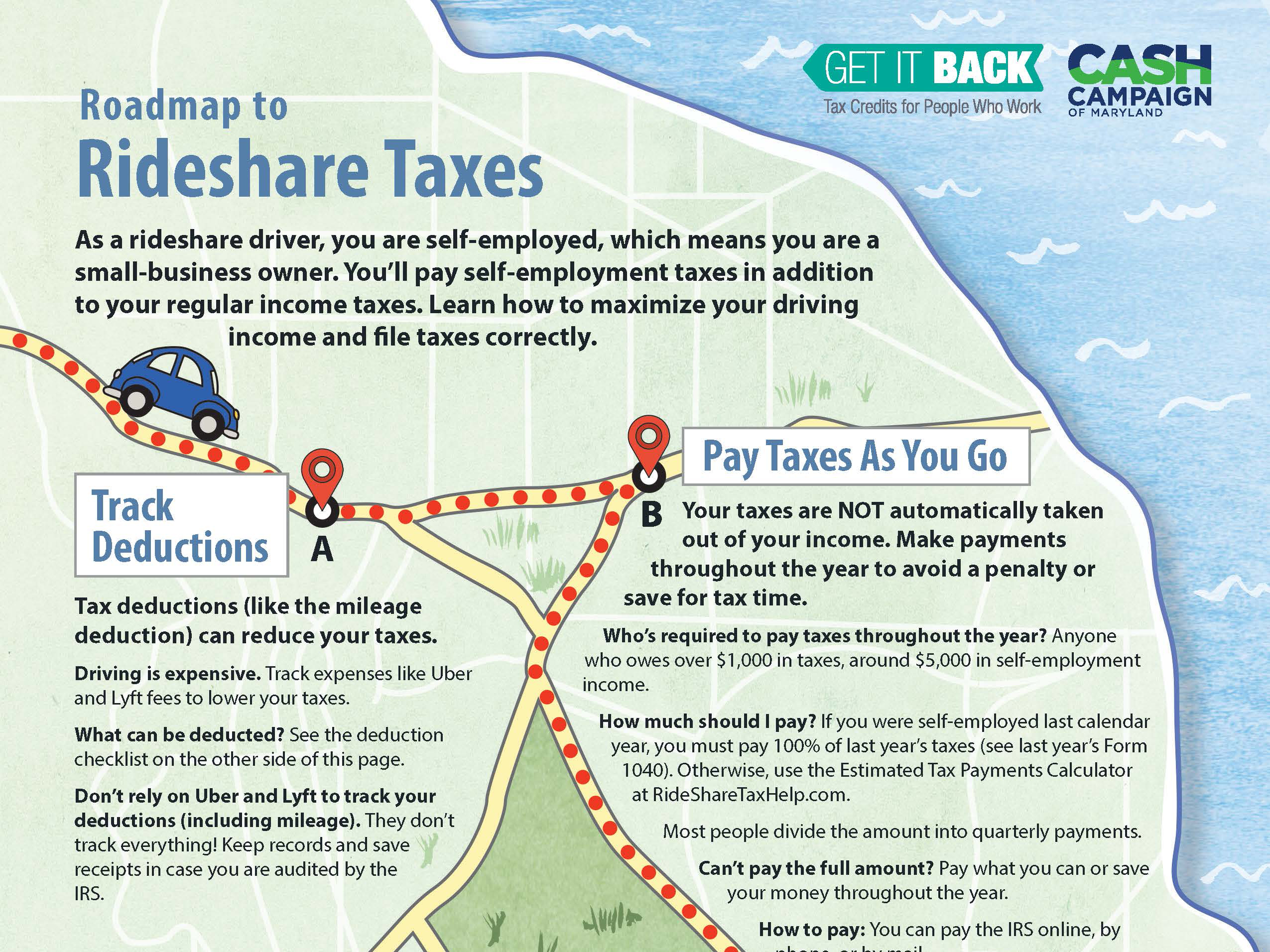 roadmap to rideshare taxes cheat sheet get it back tax credits